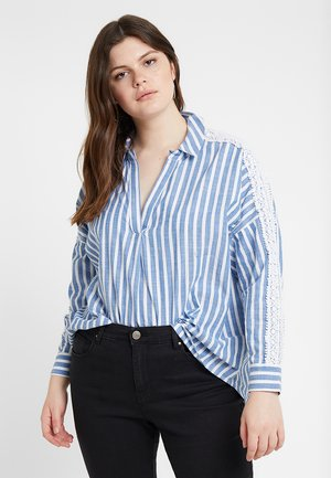 STRIPE - Skjortebluser - white/blue