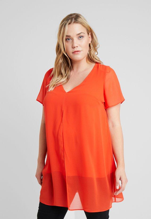 SPLIT FRONT - Bluse - orange