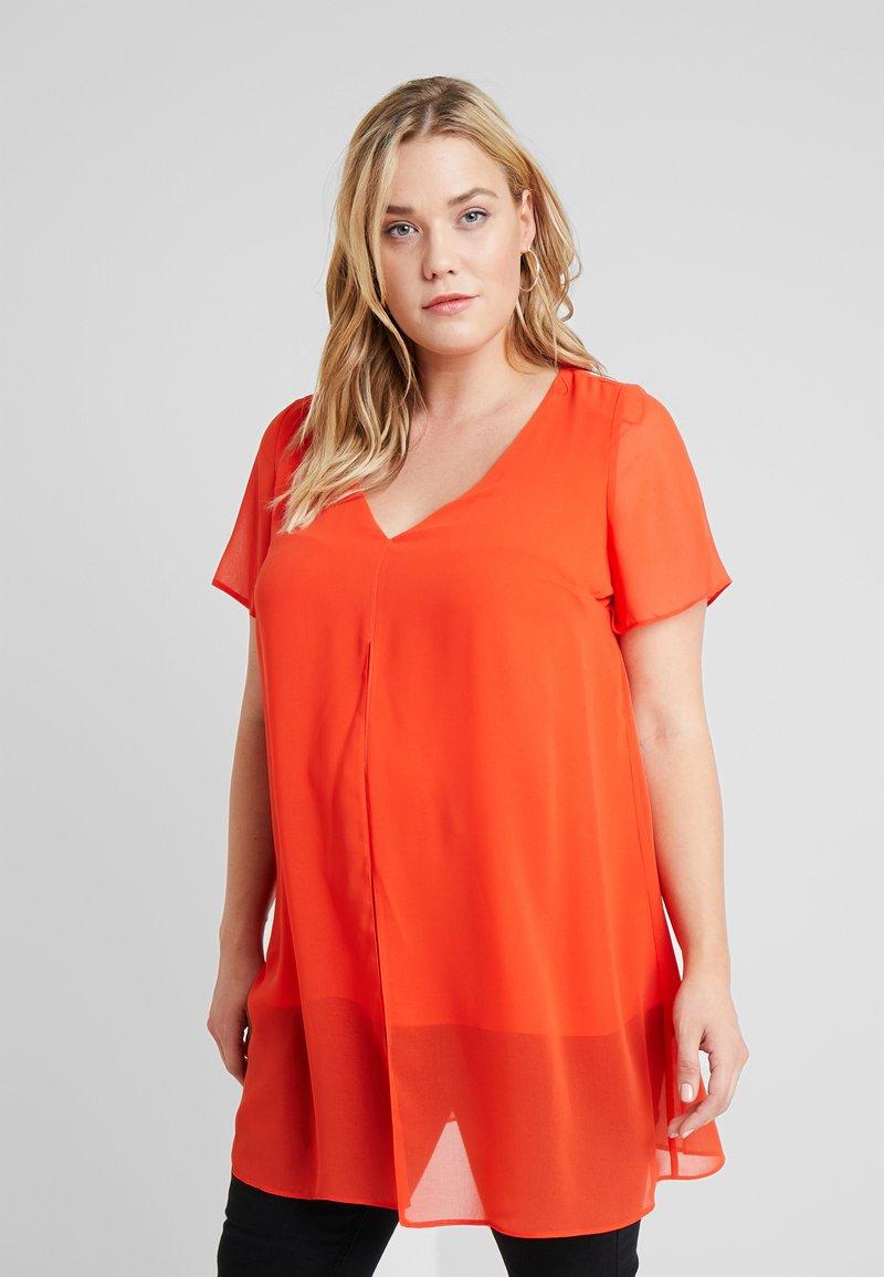 Evans - SPLIT FRONT - Bluse - orange
