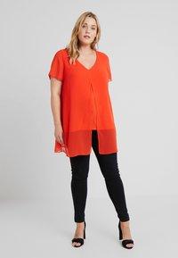 Evans - SPLIT FRONT - Bluse - orange - 1