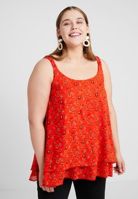 Evans - DITSY FLORAL DOUBLE LAYER CAMI - Blouse - red - 0