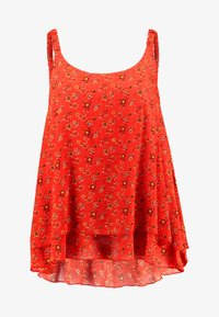Evans - DITSY FLORAL DOUBLE LAYER CAMI - Bluser - red - 3