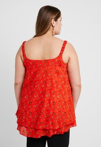 Evans - DITSY FLORAL DOUBLE LAYER CAMI - Blouse - red - 2