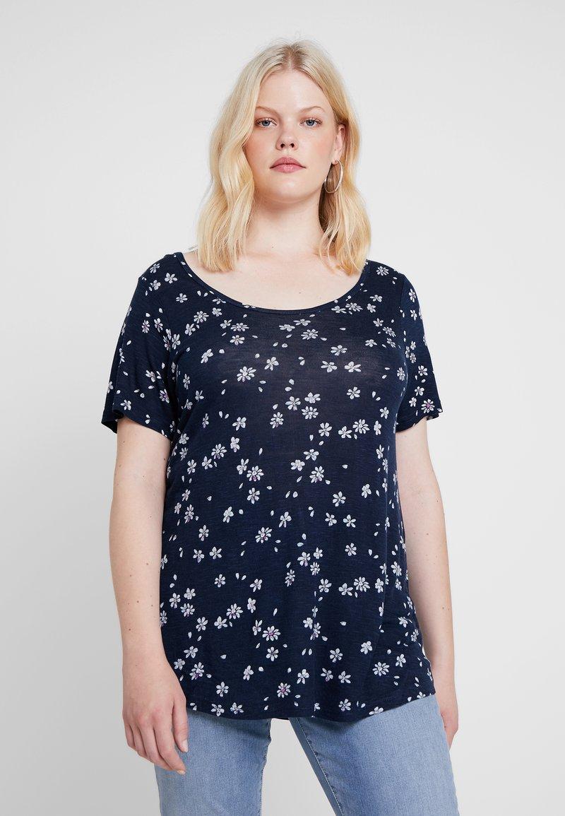 Evans - DAISY TEE - T-Shirt print - navy