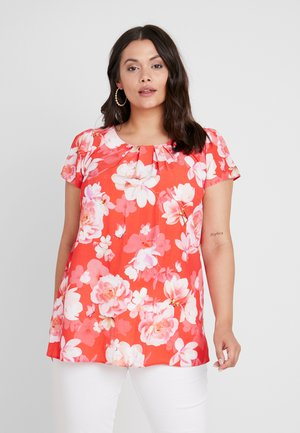 FLORAL SHELL - Blouse - coral