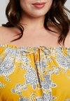 Evans - PAISLEY BARDOT - Blouse - yellow