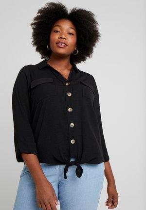 TIE FRONT - Košile - black