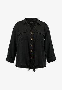 Evans - TIE FRONT - Košile - black - 3