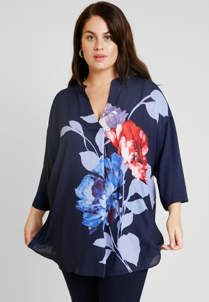 FLORAL PLACEMENT - Blůza - navy