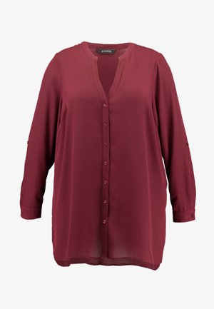 PLAIN BUTTON THROUGH - Bluser - wine