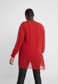 Evans - SPLIT FRONT SHIRRED CUFF - Blusa - red - 2