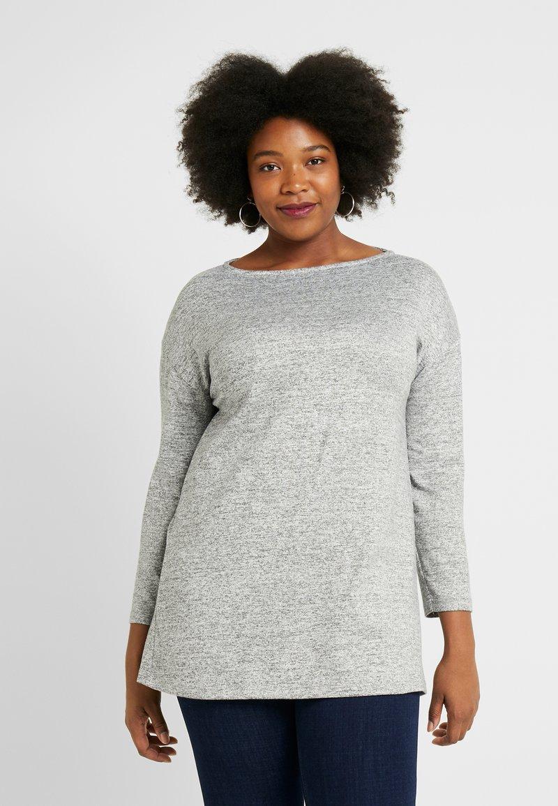 Evans - SLASH NECK - T-shirt à manches longues - grey