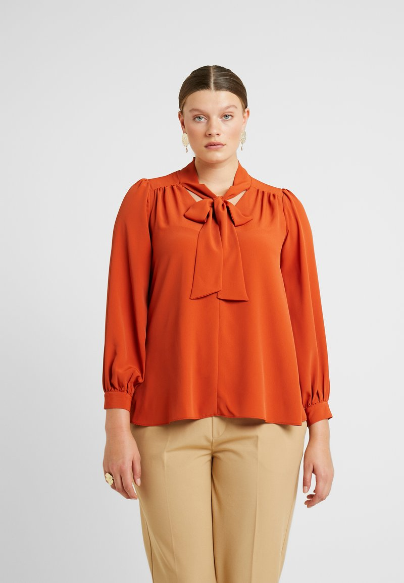 Evans - PUSSYBOW - Blouse - rust