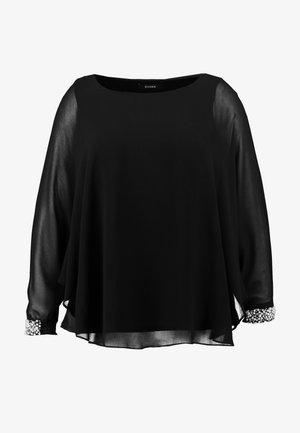 PEARL OVERLAY - Blusa - black