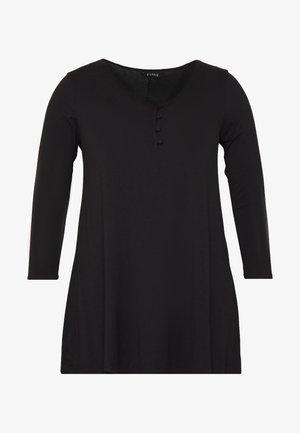 BUTTON DETAIL - T-shirt à manches longues - black