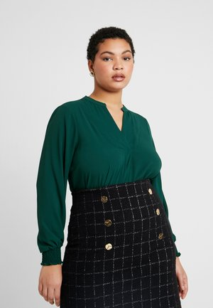 PLAIN SHIRRED - Blouse - green