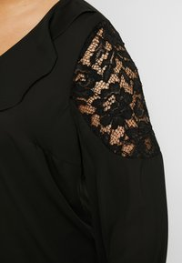 Evans - BLACK LACE FRILL TOP - Blůza - black - 5
