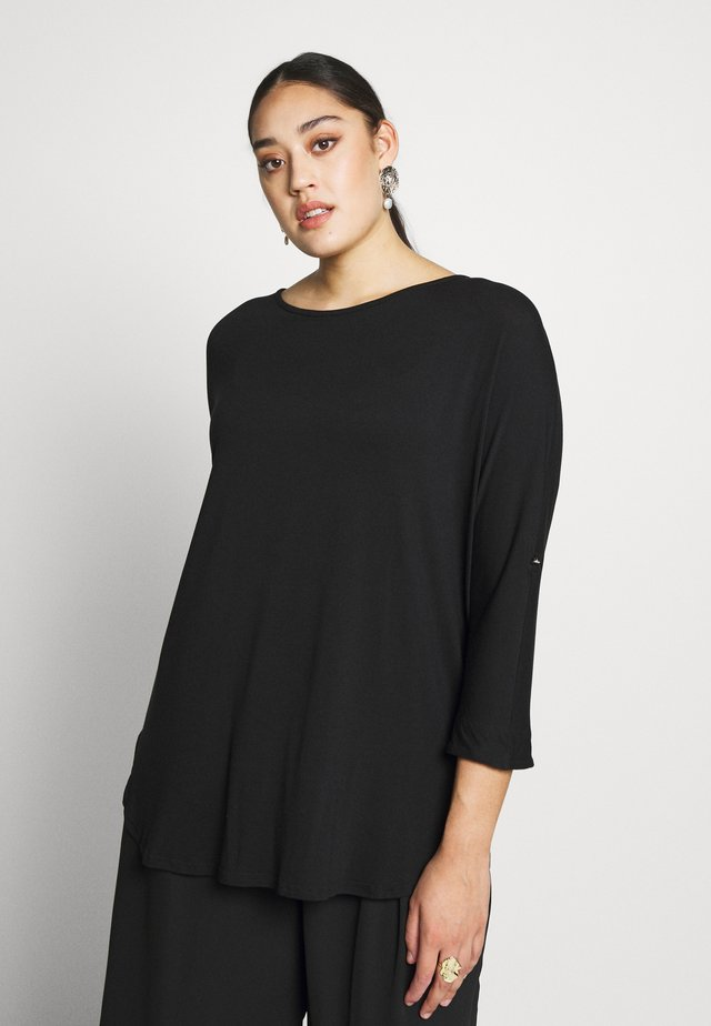 TAB UP SLEEVE - Long sleeved top - black