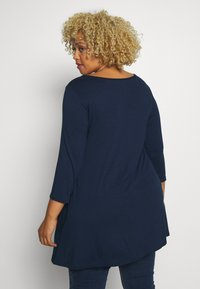Evans - 3/4 SLEEVE SWING - Long sleeved top - navy - 2