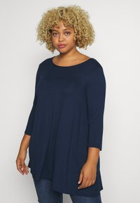 Evans - 3/4 SLEEVE SWING - Long sleeved top - navy - 0