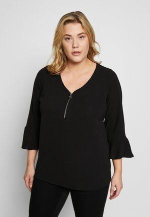 FRONT FRILL SLEEVE  - Blouse - black