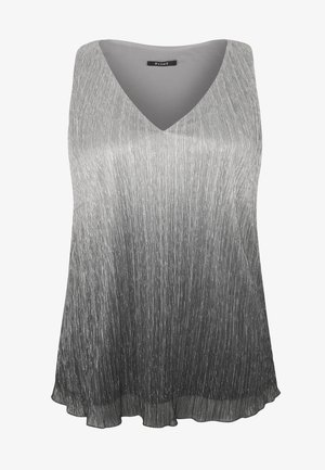 OMBRE PLEATED - Blouse - grey