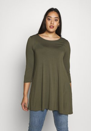 3/4 SLEEVE SWING - Long sleeved top - khaki