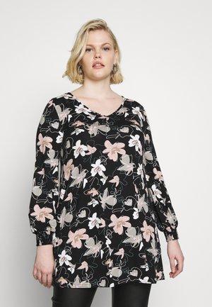 FLORAL PRINT SWING  - Long sleeved top - black