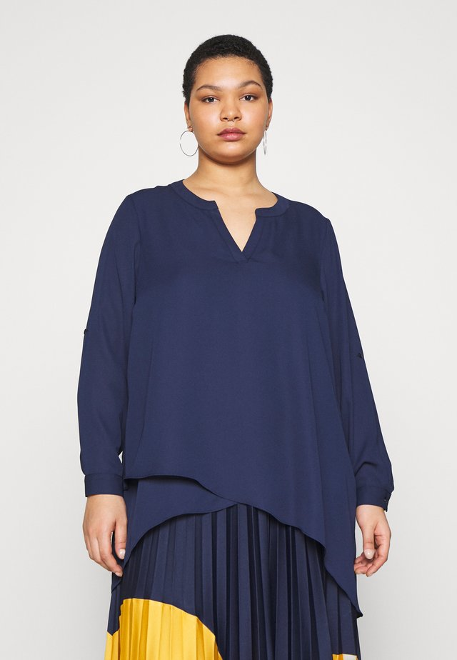 ASYMETRIC TOP - Blouse - navy