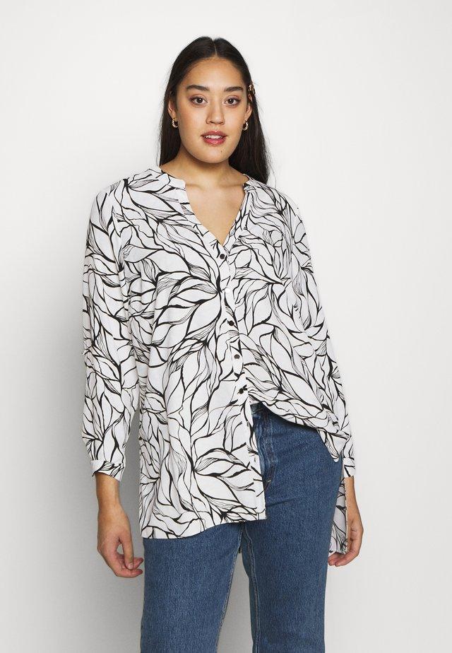 MONO PRINT - Button-down blouse - black/white
