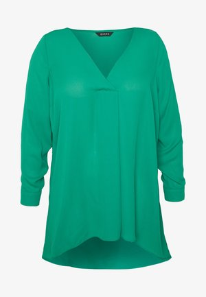 LONG SLEEVE CROSS FRONT  - Blůza - green