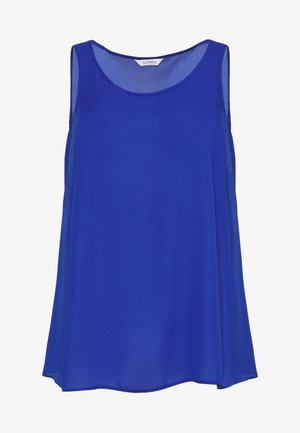 SCOOP NECK VEST - Blouse - blue