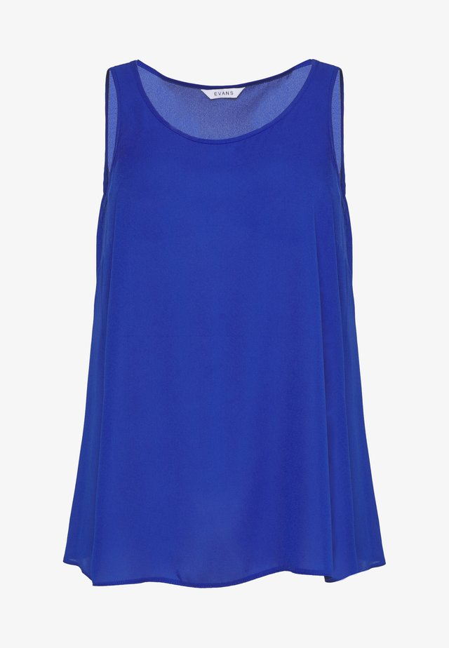 SCOOP NECK VEST - Blouse - blue