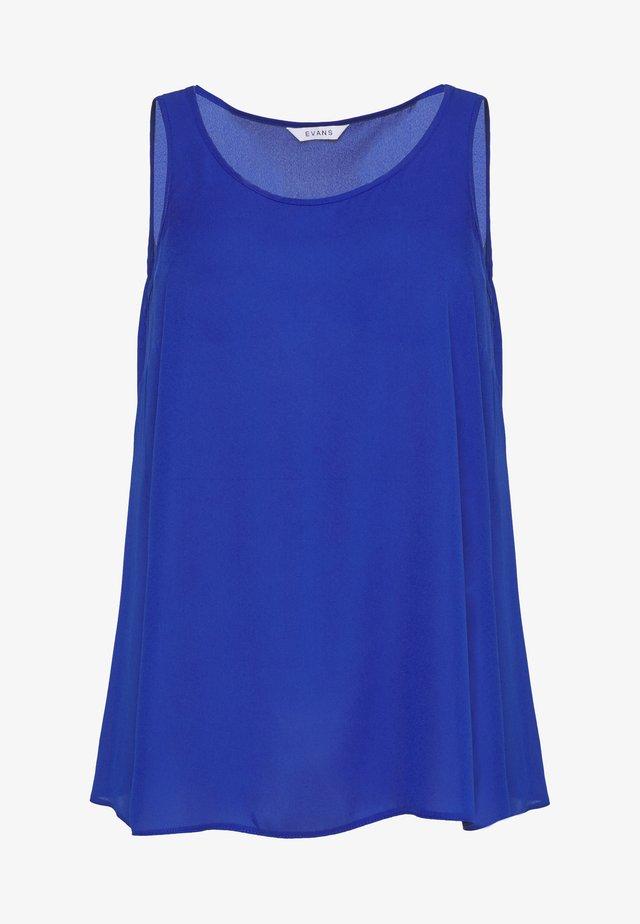SCOOP NECK VEST - Pusero - blue