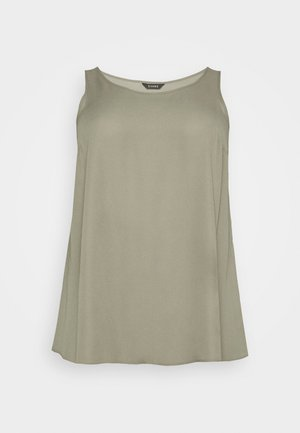 SCOOP NECK - Blouse - khaki