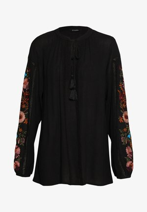 SLEEVE BLOUSE - Blůza - black