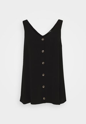 BLACK BUTTON THROUGH CAMI - Blouse - black