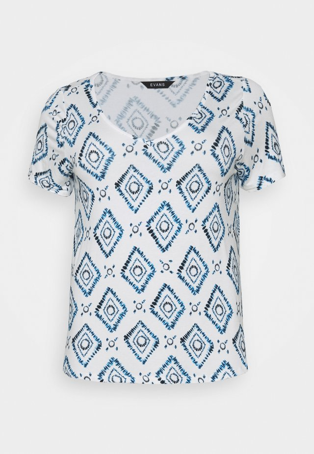 BATIK SHORT SLEEVE - Print T-shirt - navy
