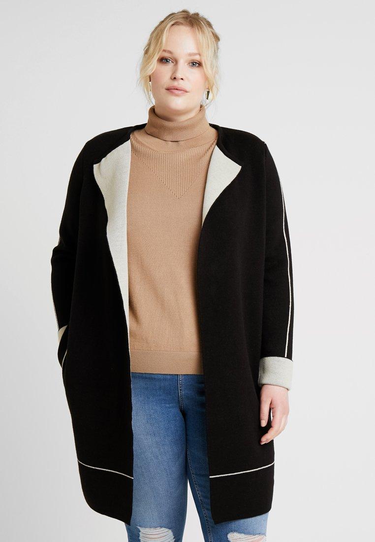 Evans - TIPPED EDGE COATIGAN - Classic coat - black