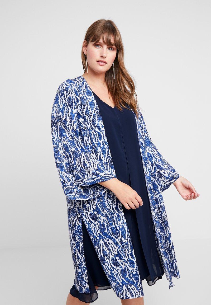 Evans - SNAKE KIMONO - Summer jacket - blue