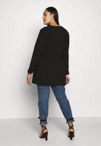 Evans - STUD POCKET JACKET - Short coat - black - 2