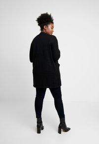 Evans - LONG STITCH CARDI - Cardigan - black - 2
