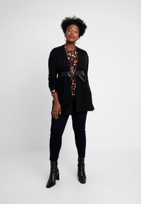 Evans - LONG STITCH CARDI - Cardigan - black - 1