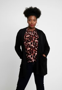 Evans - LONG STITCH CARDI - Cardigan - black - 0