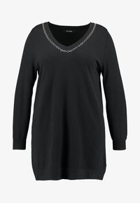 Evans - CHAIN TRIM - Jumper - black - 4