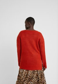 Evans - COMPACT DEEP V NECK JUMPER - Neule - copper - 2