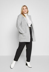 Evans - HOODED EDGE TO EDGE MID GAUGE CARDI - Chaqueta de punto - grey