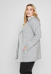 Evans - HOODED EDGE TO EDGE MID GAUGE CARDI - Chaqueta de punto - grey - 0