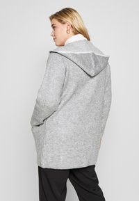 Evans - HOODED EDGE TO EDGE MID GAUGE CARDI - Chaqueta de punto - grey - 2