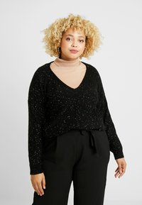 Evans - RAINBOW SEQUIN JUMPER - Trui - black - 0